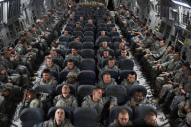 Troops on a Plane