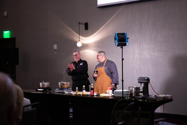 Chefs Steve Bautista and Joe Mendez introduce their Savor dinner.