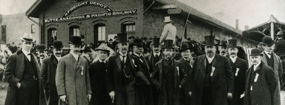 This program tells the epic tale of Butte, Montana, once the world's largest producer of copper. Pictured: Butte mining officials, circa 1900.