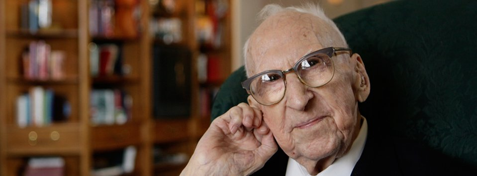 Walter Breuning, oldest man in America and Great Falls, MT resident.