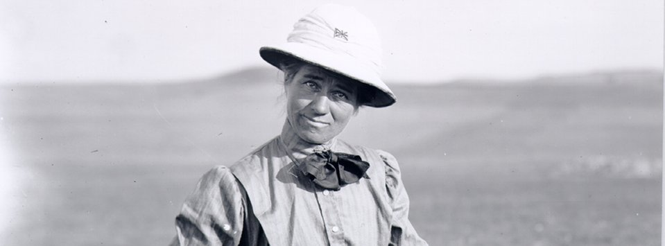 Evelyn Cameron's thirst for adventure and exploration became clear when she put on her favorite hat, the pith helmet.
