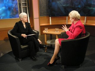 Karen DeWitt with Nancy Zimpher