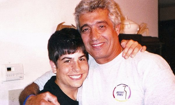 Michael with Dad, Avi Israel