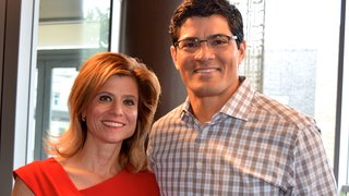 Lisa Purcell and Tedy Bruschi