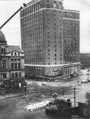 Downton Providence Biltmore Hotel and city hall - 1938 hurricane
