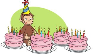 Curious George and  Cakes