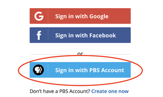 Sign In with PBS Account