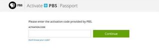 Activate PBS Passport