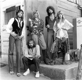 Fleetwood Mac group photo in Los Angeles, 1977.