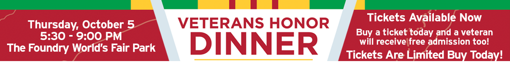 Join us for the Veterans Honor Dinner October 5, 2017 Get Tickets Here