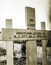 G. P. Cather's grave in France