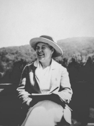 Willa Cather writing at Jaffrey, NH