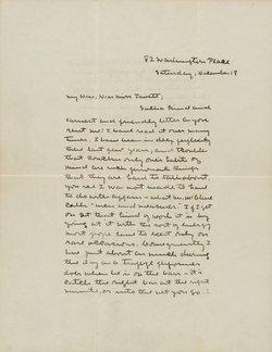 Sarah Orne Jewett Letter